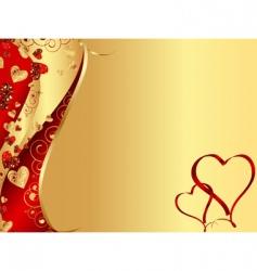 wavy heart frame vector image