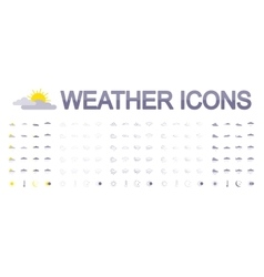 Weather icons Flat vector image