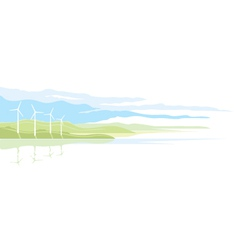 Wind Generator Landscape vector