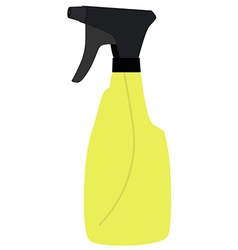 Yellow spray bottle vector image