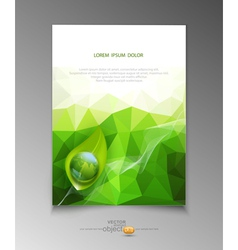abstract template brochure for business vector image vector image