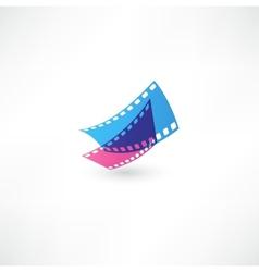 Film icon wave vector image vector image