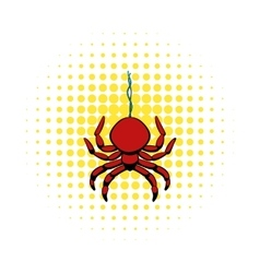 Spider icon in comics style vector image vector image