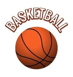 Textured basketball ball vector image vector image