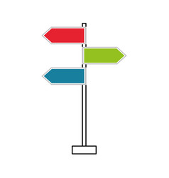 traffic signal arrows guide direction icon vector image