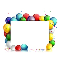 Colorful birthday background with blank sign vector