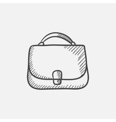 Female handbag sketch icon vector image