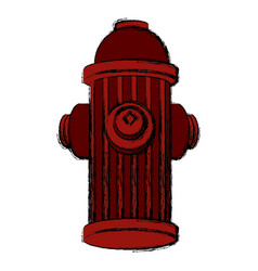 hydrant isolated symbol vector image