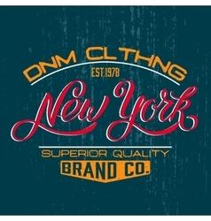 New York design print vector image vector image