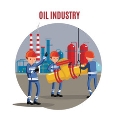 oil industry characters concept vector image