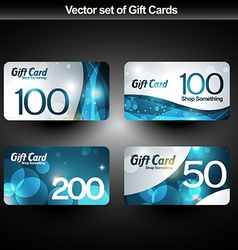 shiny gift cards vector image vector image