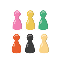 bright game pieces mini set of gaming chips for vector image