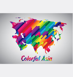 colorful asia vector image
