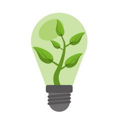 ecology bulb leaf nature vector image