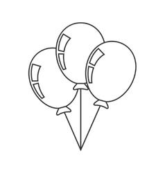 Balloons thin line icon vector image