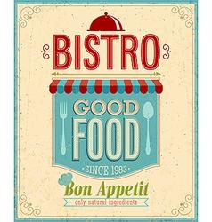 bistro vintage vector image
