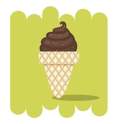 Chocolate ice cream vector image vector image