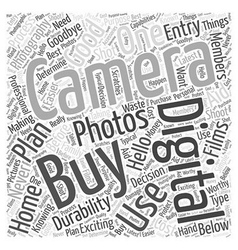 digital photography camera Word Cloud Concept vector image vector image
