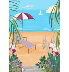 exotic coast vector image