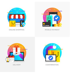 flat designed concepts - colored 5 vector image vector image