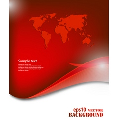 red business background vector image vector image