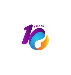 10 years anniversary celebration number template vector