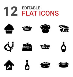 12 homemade icons vector