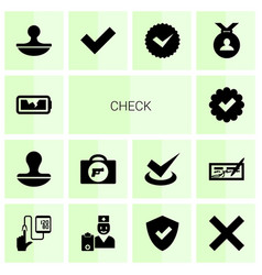 14 check icons vector image