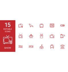 15 show icons vector image