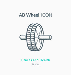 ab wheel icon on white background vector image