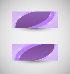 Abstract business banner violet wave background vector