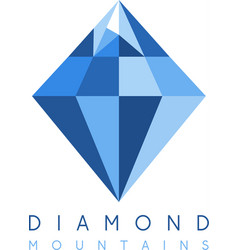 abstract icon design template of mountain diamond vector image