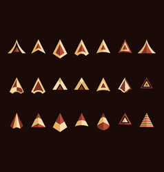 arrowheads set vector image