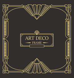 Art deco border and frame vector
