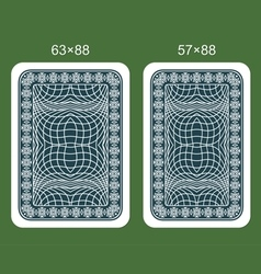 Back design playing card vector