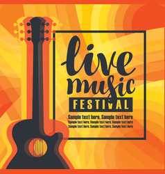 Banner for concert of live music with guitar vector