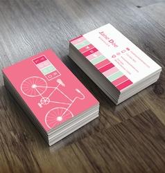 Bike Themed Business Card Template vector