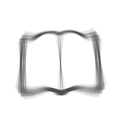 book sign gray icon shaked at white vector image
