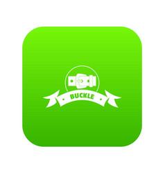 Buckle wear icon green vector