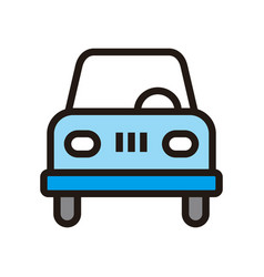 car icon isolated on white background from vector image
