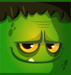 Cartoon halloween zombie avatar vector