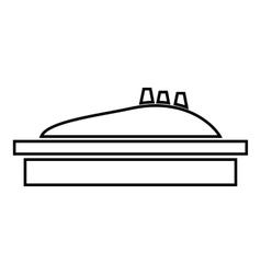 Children sandpit icon outline style vector