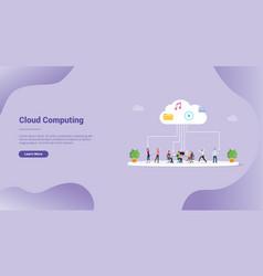 Cloud computing technology file saving for vector