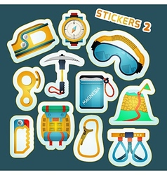 Colored stickers for rock climbing vector image