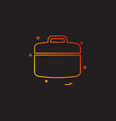 construction bag work labour icon vector image