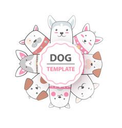 crazy beautiful dog template vector image