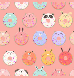 Cute ice cream seamless pattern background vector