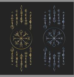 dark runic symbols dreamer deco vector image