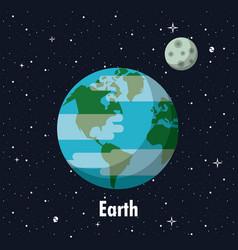 Earth planet of milky way vector