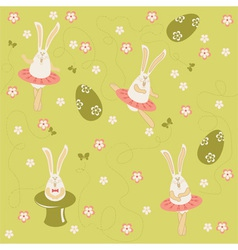 Easter bunnies seamless vector image